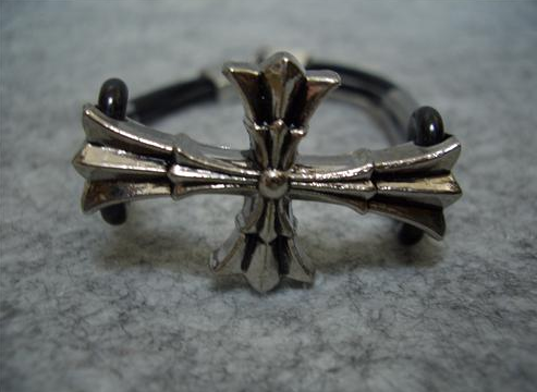 Primary image for Fashion Iron Silver Cross With crease pattern Bracelet Prayer Blessing Gift