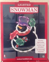 Christmas WAVING SNOWMAN Lighted Window Decoration Indoor / Outdoor Use NEW image 5