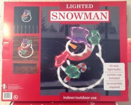 Christmas WAVING SNOWMAN Lighted Window Decoration Indoor / Outdoor Use NEW image 6