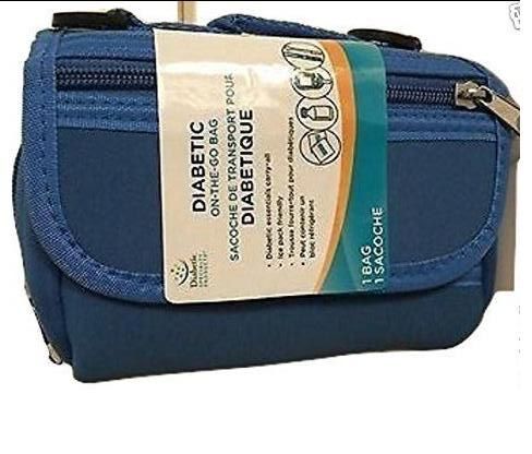 Primary image for Kids Diabetic on the go bag Insulin Organizer Holder Case Pack Blue APOTHECARY