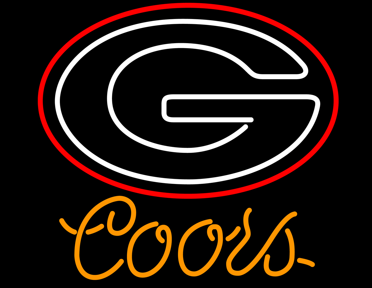 Coors ncaa university of georgia neon sign 16  x 16