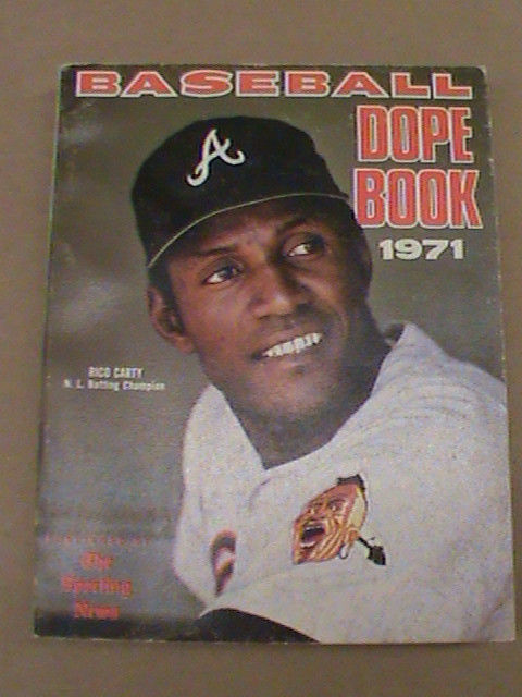 Primary image for 1971 Baseball Dope Book EXNRMT Rico Carty Cover Braves The Sporting News