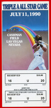 1990 Triple A All Star Game FULL Ticket Cushman Field July 11, Las Veges NV - $21.77