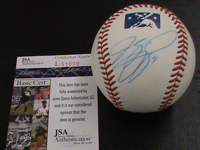 Primary image for Mike Piazza AUTOGRAPHED Baseball Official International League ball JSA COA Mets