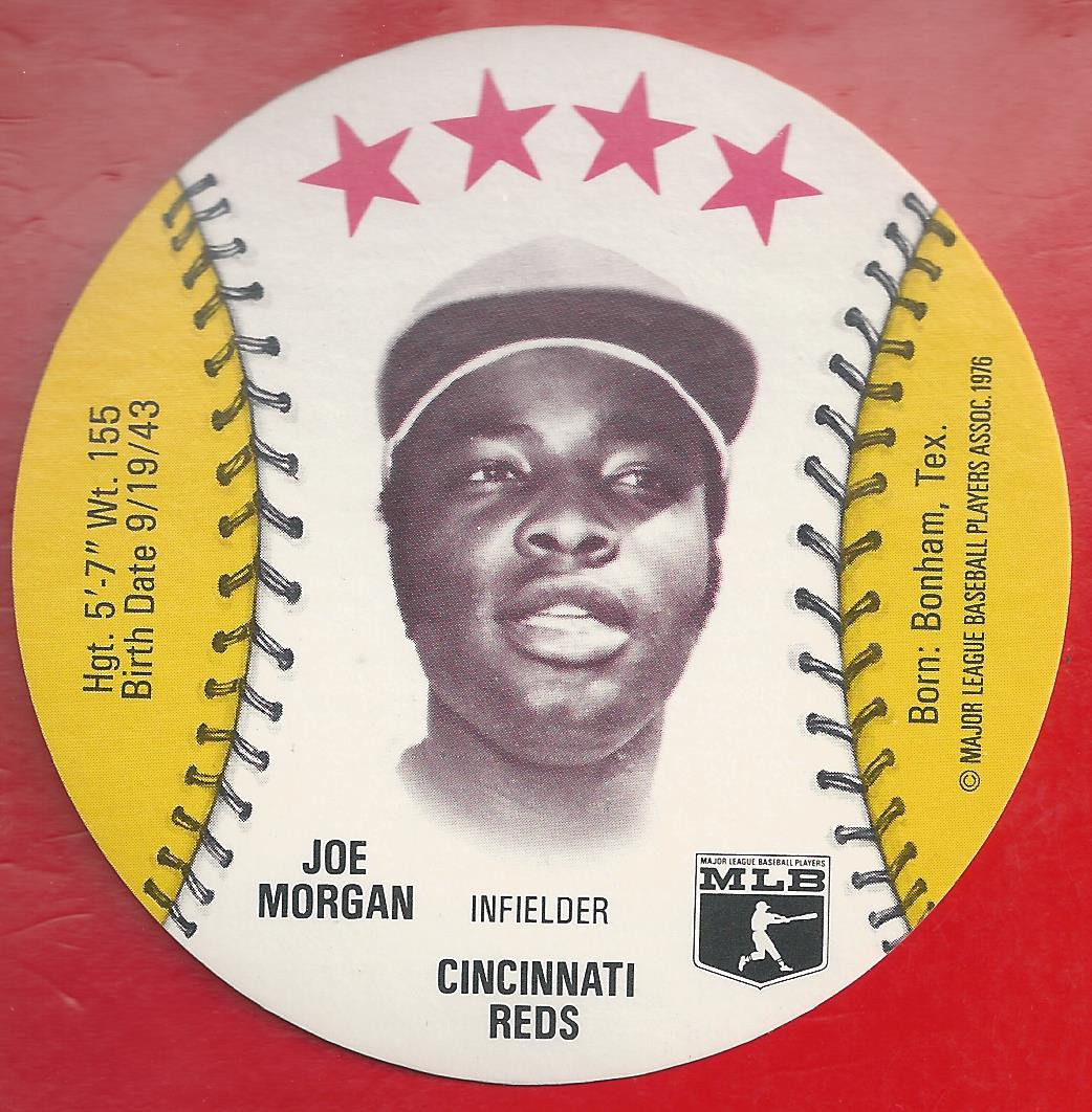 Primary image for 1976 Isalys JOE MORGAN Disc Nrmt/Mt  Reds