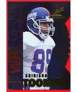 1997 Pinnacle inside GRIDIRON GOLD Amani Toomer #88 Giants - $12.87