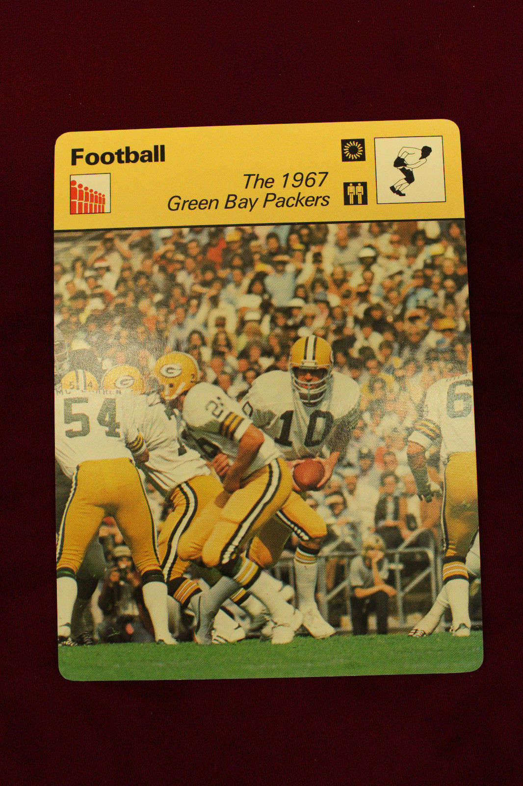 Primary image for 1967 GREEN BAY PACKERS 1977 SPORTSCASTER card printed in JAPAN