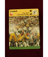 1967 GREEN BAY PACKERS 1977 SPORTSCASTER card printed in JAPAN - $10.88