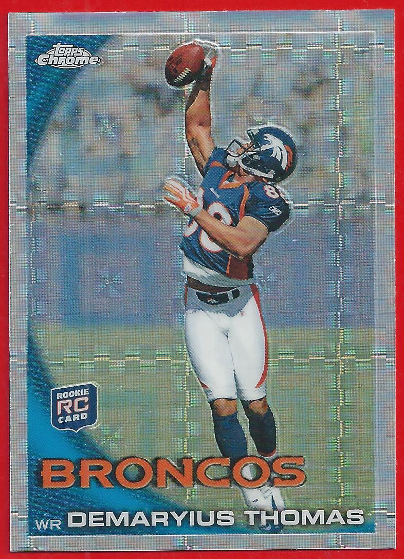 Primary image for 2010 Topps Chrome Xfractor Demaryius Thomas Rookie C110 Broncos