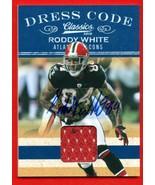 2010 Classic Dress Code Roddy White Jersey Auto 10/10 Falcons - $59.39