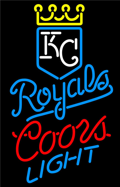 Primary image for Coors Light MLB Kansas City Royals Neon Sign
