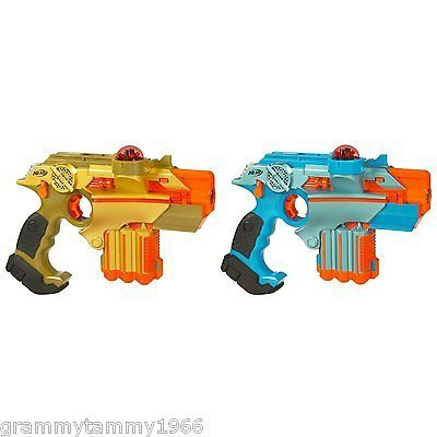 Lazer Tag Phoenix LTX Tagger 2 Pack Laser Gun Set Team Player System Lights NEW!