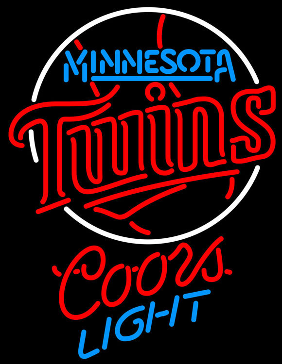 Primary image for Coors Light MLB Minnesota Twins Neon Sign