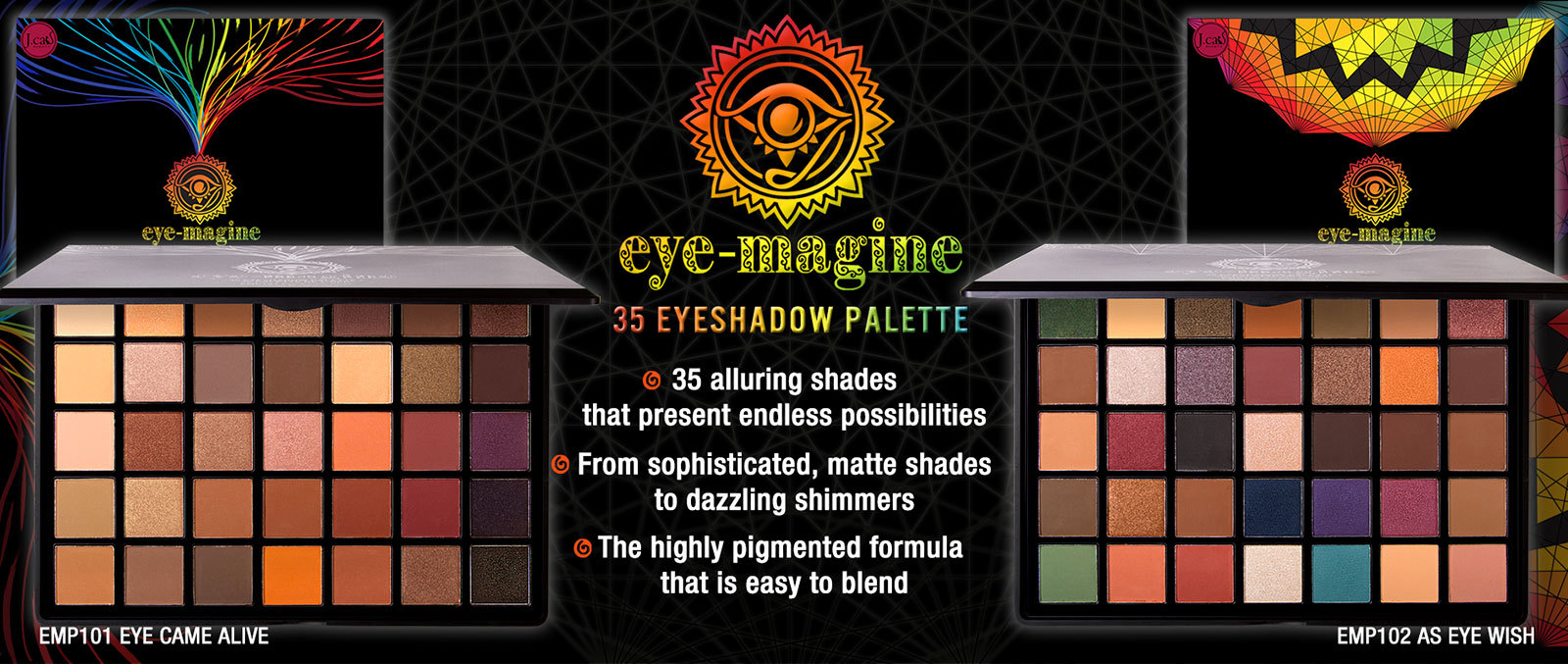 J. Cat Beauty Eye-Magine 35 Eyeshadow Palette EMP102