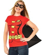 Rubies Dc Comics Robin Erwachsene Damen Halloween Kostüm Maske Hemd Umhang - $24.14