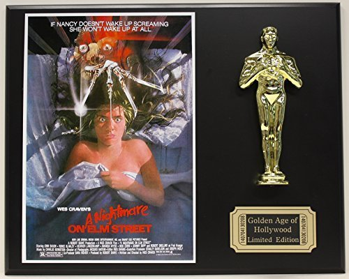 "Used, Wes Craven ""A Nightmare On Elm Street"" LTD Edition Oscar Movie Poster Display for sale  USA"