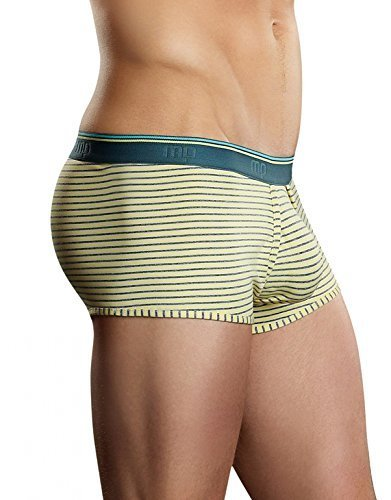 Primary image for Male Power Heather Stripe Lo Rise Enhancer Short (Small, Yellow/Grey)