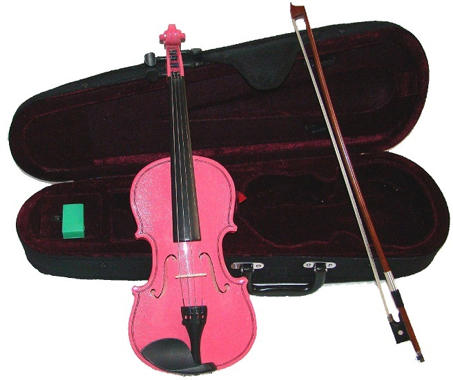 "Primary image for Crystalcello 15"" Pink Viola with Case and Bow"