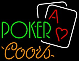 Coors Green Poker Neon Sign - $699.00