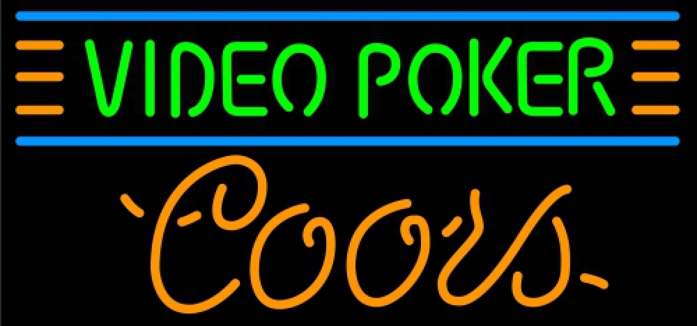 Coors video poker neon sign 16  x 16