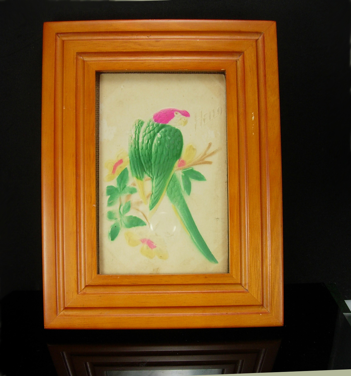 Primary image for 1908 Parrot Postcard Framed Embossed Antique Post card souvenir One cent stamp b