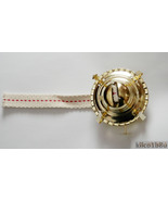 "Oil Lamp Burner-Brass Plated Threaded Collar-w/wick Fits 1-3/4"" collar - $10.00"