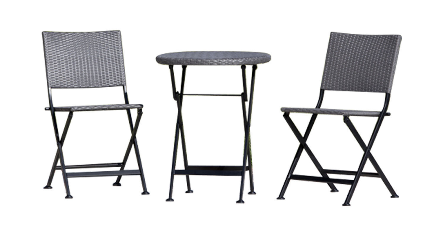 Primary image for Wt Living Lightweight Durable Acosta Folding Wicker 3-Piece Bistro Set
