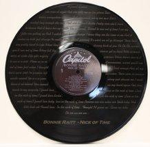 "Bonnie Raitt ""Nick Of Time"" Black Vinyl 12"" LP With The Words To The Hit... - $49.95"