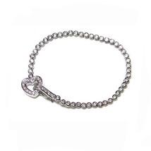 Bezel+Pave Heart Toogle Lock Cubic Zirconia Tennis Bracelet - $39.59