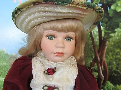 Fine porcelain 2000 Angelina Doll  limited edition collection blond curly hair