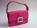 Sparkle Purse Collector Box Rhinestones Buckle Hot Pink Just the Right Shoe