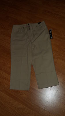 Primary image for LARRY LEVINE CROP CAPRI SIZE 10P TAN STRETCH MSRP:$50.00 NWT