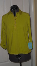 Caribbean Joe Knit Top Shirt Size Pl Green Stretch Msrp:$42.00 Nwt - $17.98