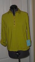 Caribbean Joe Knit Top Shirt Size Pm Green Stretch Msrp:$42.00 Nwt - $17.98