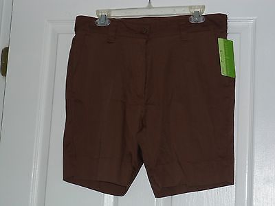 Primary image for ALLYSON WHITMORE BERMUDA SHORTS SIZE 14P BROWN STRETCH NWT