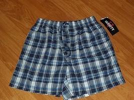Varsity Sleepwear Shorts Size S Young Mens Blue Plaid Nwt  - $15.49