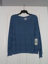 Caribb EAN Joe Knit Sweater Top Shirt Size L Blue MSRP:$48.00 Nwt - $20.89