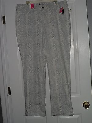 Primary image for LEE CLASSIC FIT JEANS SIZE 20W GRAY & WHITE SLIMMING  NWT