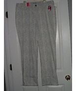 LEE CLASSIC FIT JEANS SIZE 20W GRAY & WHITE SLIMMING  NWT - $21.99