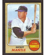 MICKEY MANTLE Card RP #280 Yankees 1968 T Free Shipping - $3.00
