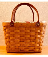 Longaberger Rare Purse Basket, Fabric/Plastic Liner, Signed by 4 family ... - $250.00