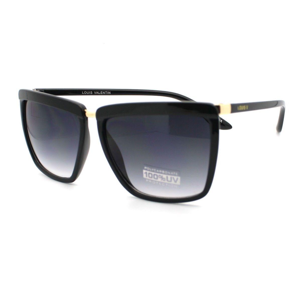 High Fashion Womens Sunglasses Oversized Square Designer Frame