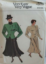 Vogue Sewing Pattern 9762 Misses Jacket Skirt Size 6 8 10 - $18.37