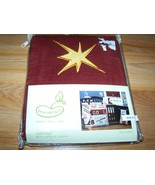 Beansprout Little Champ Window Valance Curtain Burgundy Corduroy Gold St... - $15.00