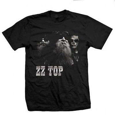 ZZ Top Photo T-Shirt Eliminator Classic Rock and Roll cotton black 80's tee