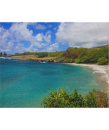 Hamoa Beach Hawaii 30x20 Stretched Canvas Wall Art Print - $99.99