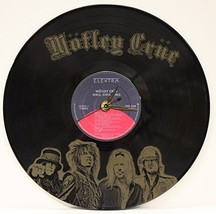 Motley Crue Laser Etched LP Record Wall Clock FREE SHIPPING - $49.95