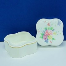 Royal Doulton trinket jewelry box summer bouquet 1985 nut candy mint dish floral - $28.89