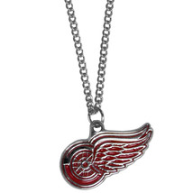 "detroit red wings licensed nhl hockey charm necklace 22"" chain - $18.04"