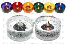 42 Unscented Gel Candle Tea Lights (up to 8 hrs each) - $30.68